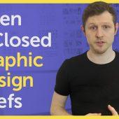 Open & Closed Graphic Design Briefs / Design brief examples