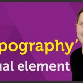 'Typography' Visual element of Graphic Design / Design theory – EP 8/45