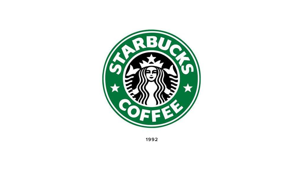 Starbucks logo from 1992