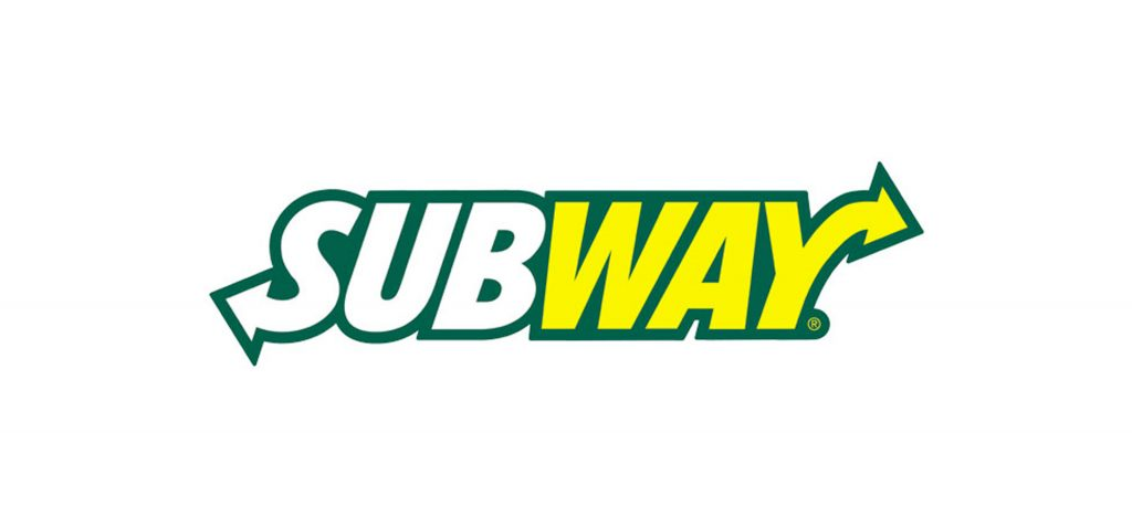 Italicised Subway logo