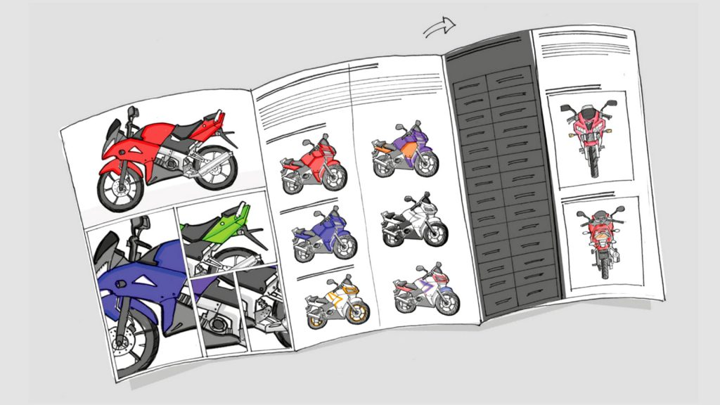 Multi-page leaflet scamp
