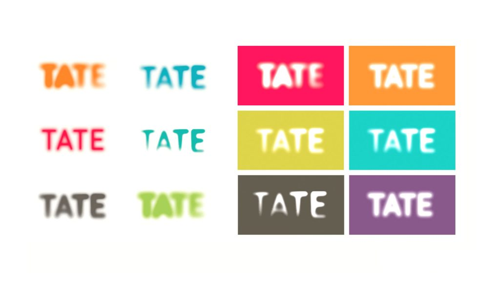 Tate logo in different colours