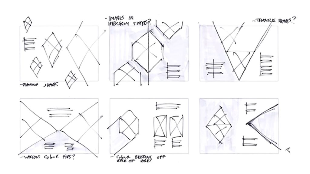 Layout sketches using grids