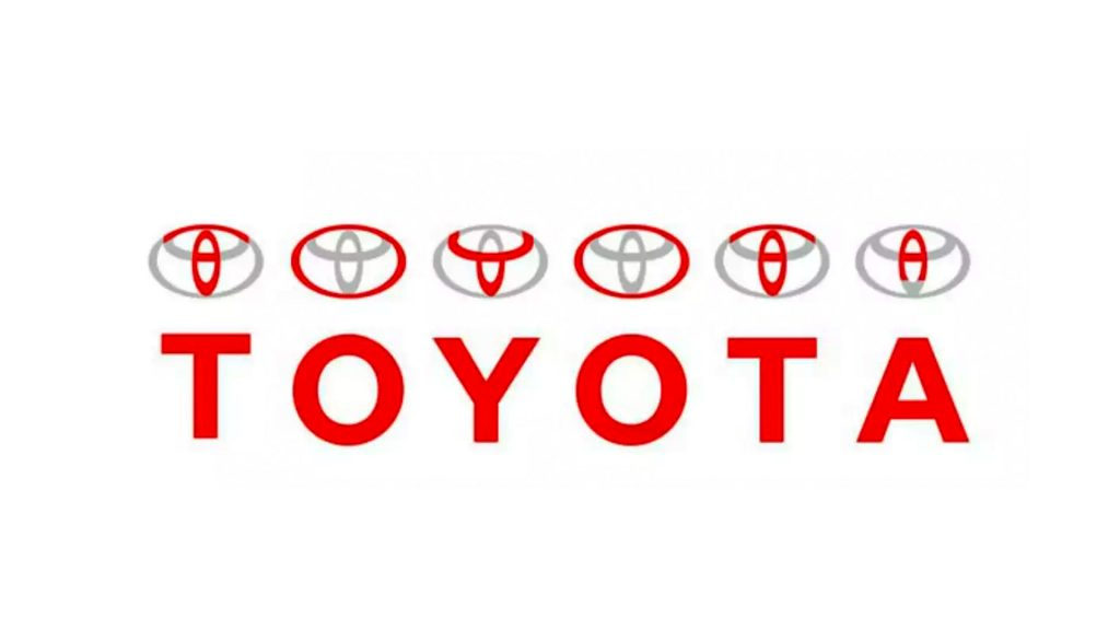 Toyota logo spelled out