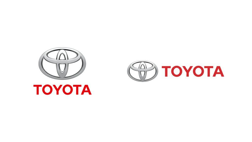 3D Toyota logo stacked and horizontal lockup