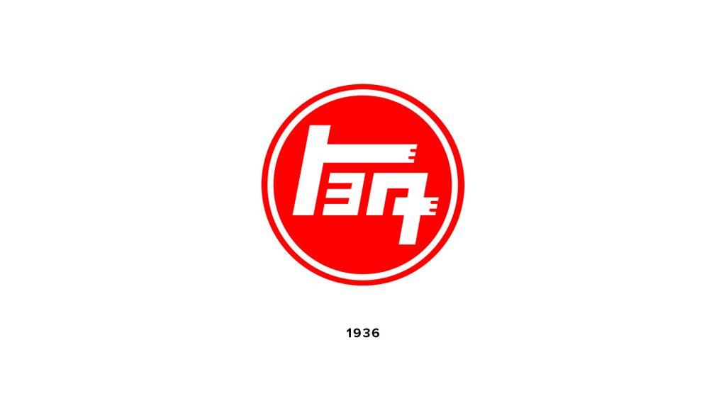 Toyota logo in Japanese katakana