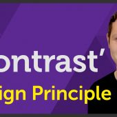 'Contrast' Design principle of Graphic Design / Design theory – EP 9/45